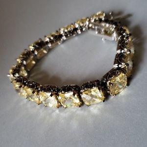 Jewelry - Prismatic Canary CZ Tennis bracelet 7 inch
